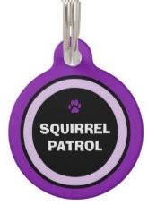 Purple custom Dog ID Tag