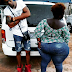 Lady With Huge Backside Spotted At A Movie Location In Lagos (Photos)