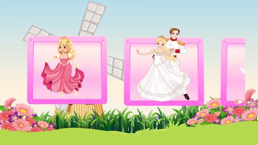 子供のためのプリンセスガールのパズル