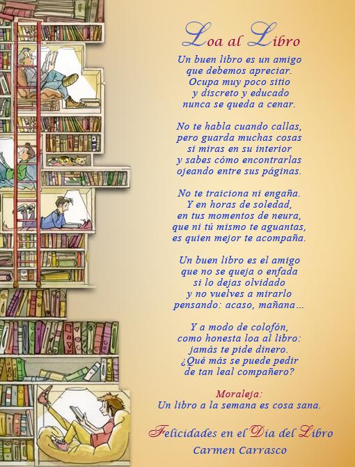 Poema 'Loa al Libro' de Carmen Carrasco