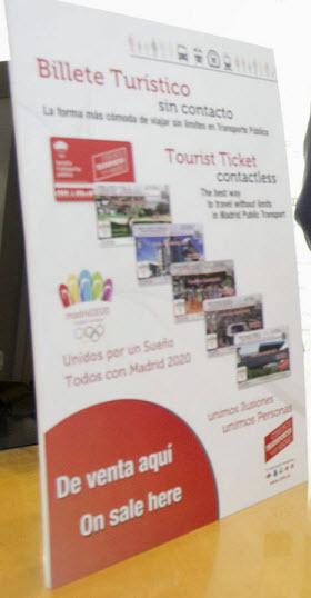 Billetes Turísticos de la Zona A con tarjeta transporte sin contacto