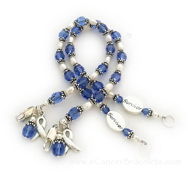 HOPE Cancer Survivor Bracelet - 18 color options with a ribbon charm.