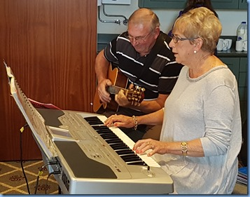 Jan and Kevin Johnston - Jan on her Korg Pa1X and accompanied by Kevin on his Crafter acoustic guitar.