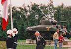 Lord Carrington, tank commander that crossed the Waal road bridge in 1944, arriving at Groesbeek Liberation museum
