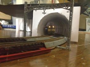 Photo: 内壁のあるトンネル作成開始