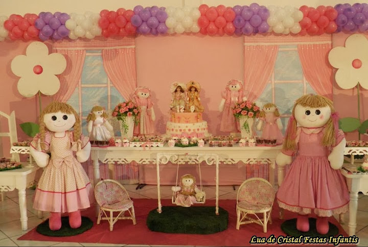 festa jardim rustica:Bonecas Provençal > Lua de Cristal Festa Infantil