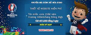 Thiết kế website miễn phí mùa EURO tại ONB.VN