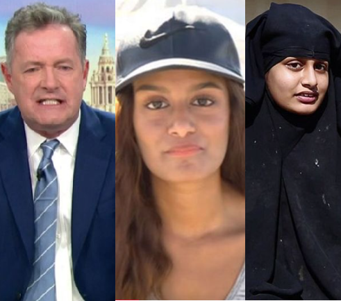 """Piers Morgan calls ISIS bride Shamima Begum a """"monster"""" after she begged the UK to forgive her on live TV"""