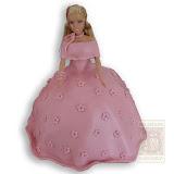 38. kép: Formatorták (lányoknak) - Barbie - rózsaszín ruhás