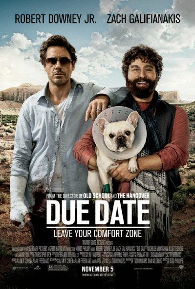 Poster Of Due Date (2010) Full Movie Hindi Dubbed Free Download Watch Online At Alldownloads4u.Com