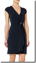 Michael Kors stretch jersey wrap effect dress - red also