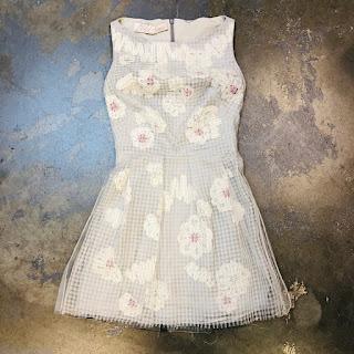 Lela Rose Net Overlay Dress