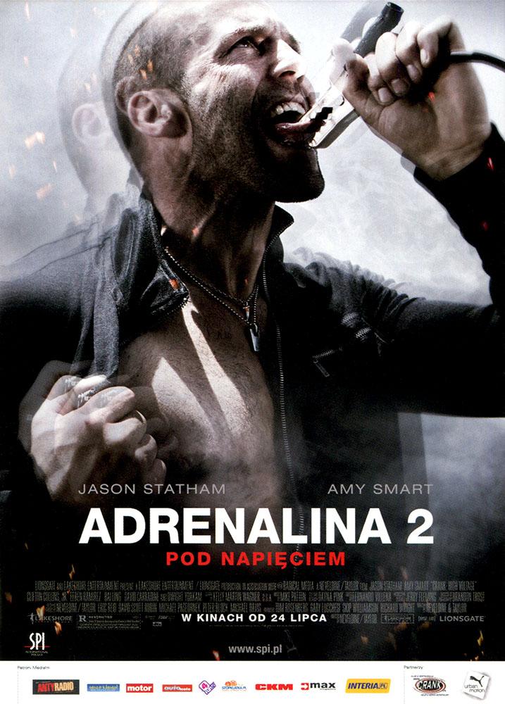 Ulotka filmu 'Adrenalina 2. Pod Napięciem (przód - wersja B)'