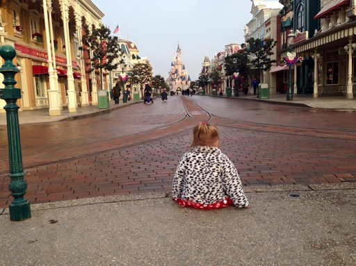 Disneyland Paris castle toddler