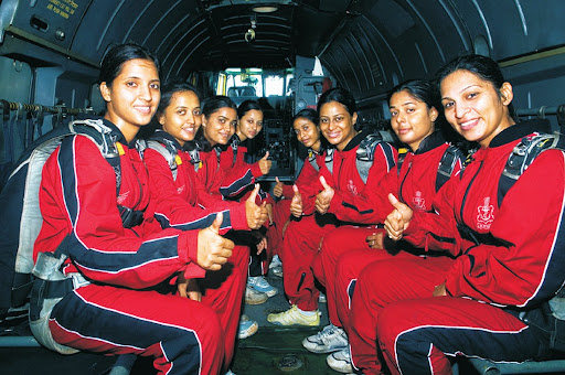 Indian Navy all-women Skydiving Team