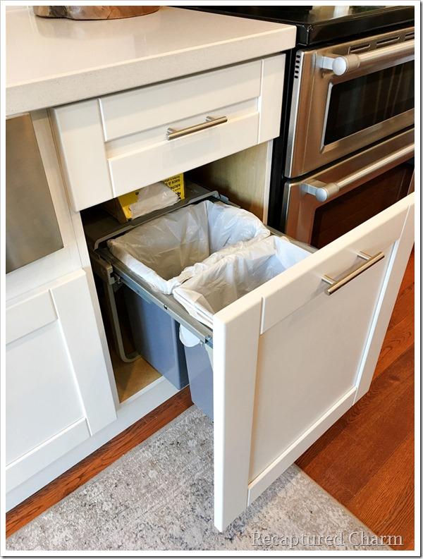 kitchen makeover garbage drawer 1a