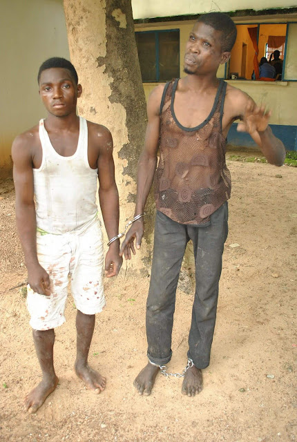 Notorious Ritualists Apprehended By Policemen With Victim's Head In Niger (Graphic Photos)