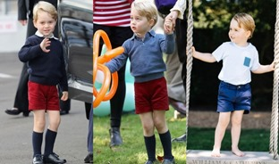Prince George wearing shorts all the time