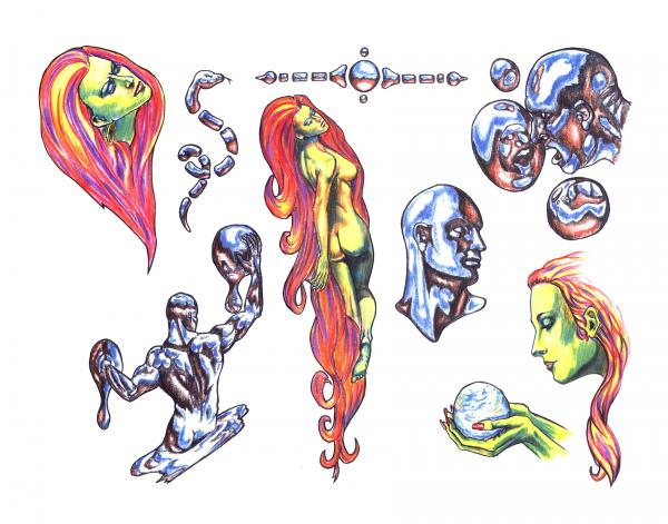 Magical Tattoo Design 7, Fantasy Tattoo Designs