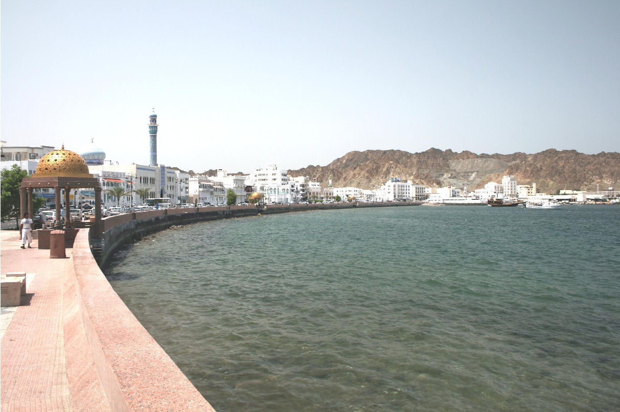 Oman - Muscat corniche along the Arabian Sea