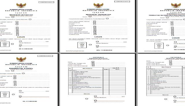 Juknis  Pengisian Blangko Ijazah RA, MI, MTS, MA Tahun 2020 dan  SHUAMBN Tahun 2020