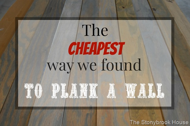 Cheap Plank Wall