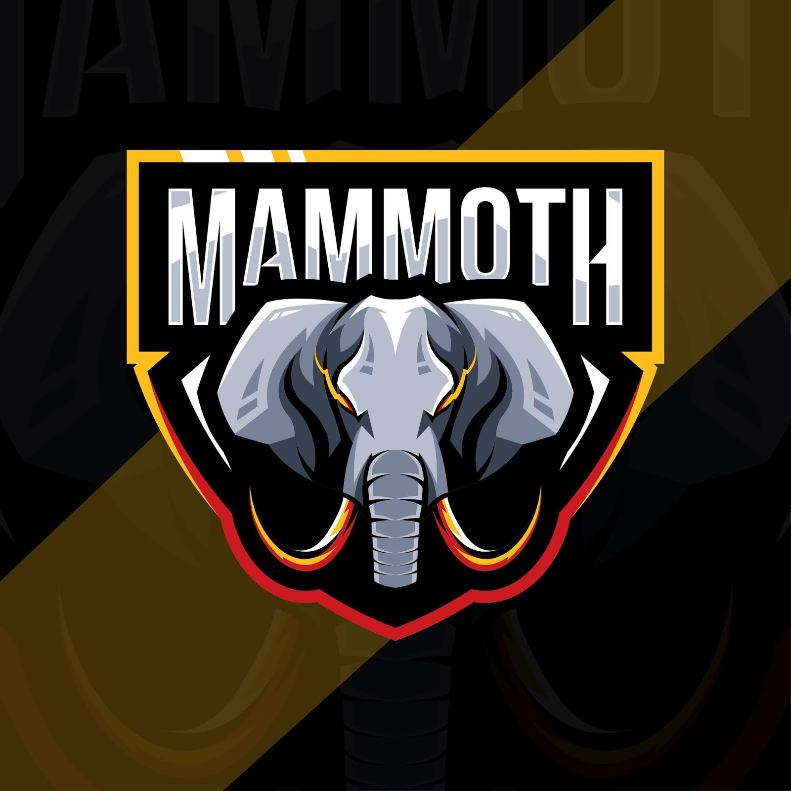 Mammoth Mascot Logo Esport Design Free Download Vector CDR, AI, EPS and PNG Formats