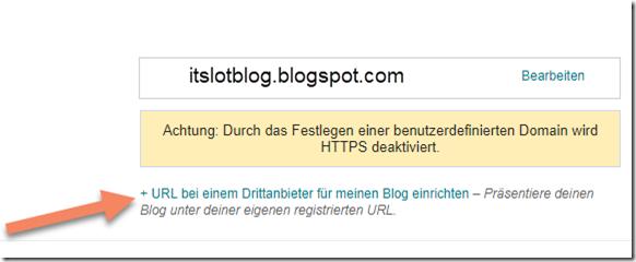 Blogspot mit eigener Domain verbinden