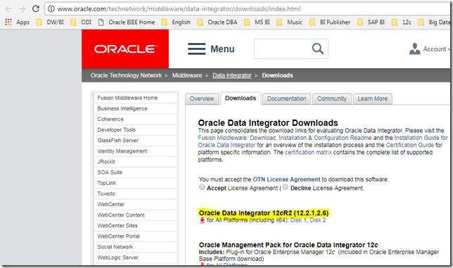 How to install Oracle Data Integrator 12cR2 (12 2 1 2 6) on Windows