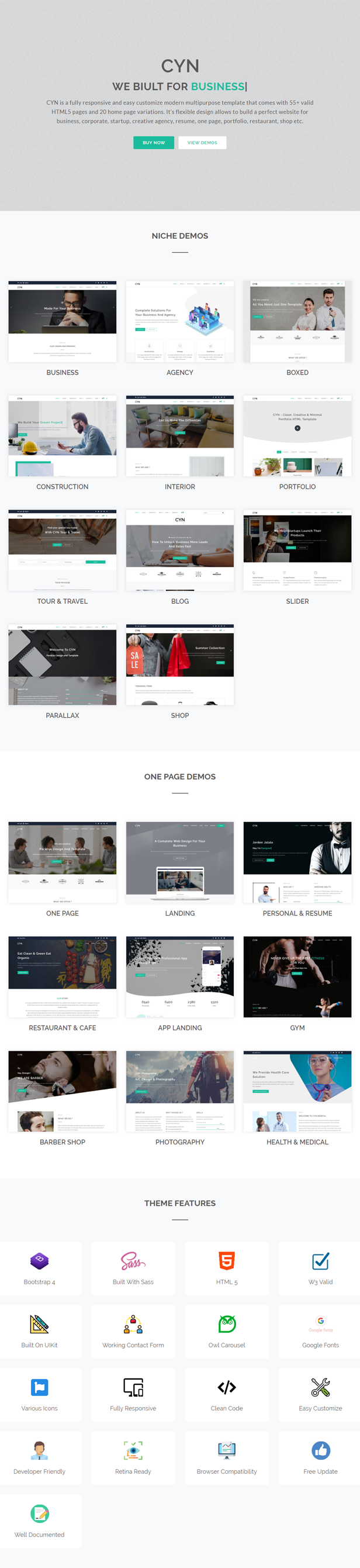 CYN - A Responsive Multipurpose Template - 1