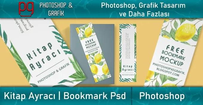 Kitap Ayracı Mockup İndir | Bookmark Mockup Download