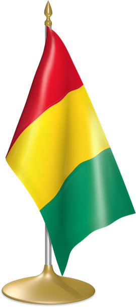 Guinean table flags - desk flags
