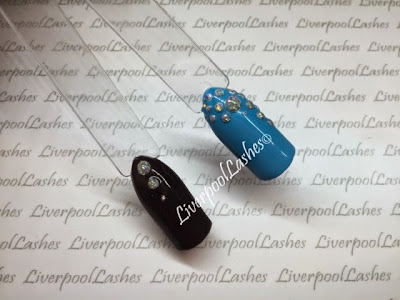 liverpoollashes how to make faux rhinestones and studs in Shellac cnd additives