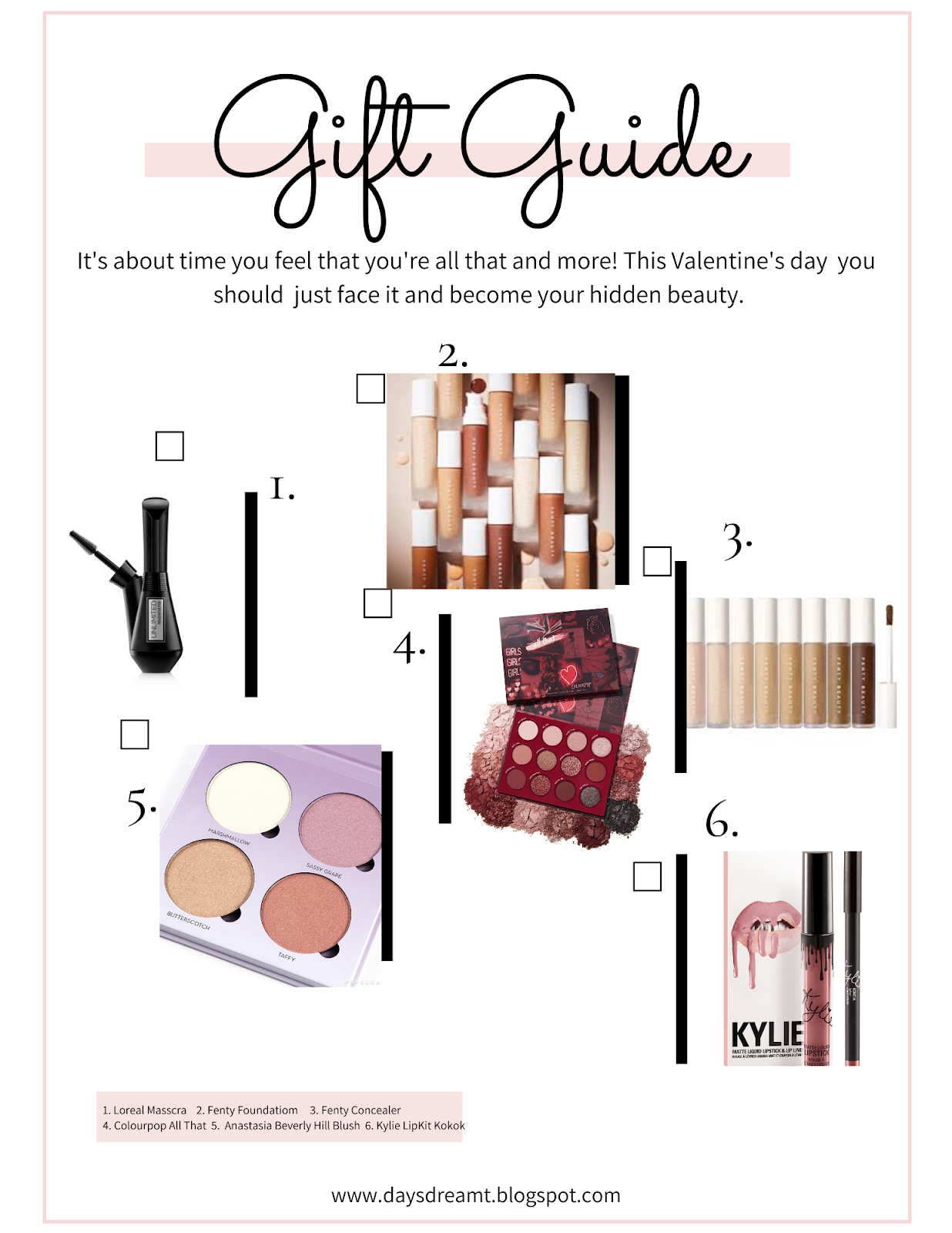 Beauty Valentines day Gift guide products