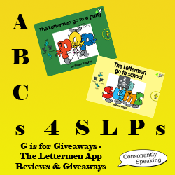 ABCs 4 SLPs: G is for Giveaways - Lettermen Application Reviews and Giveaways image