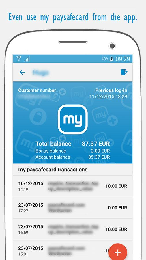 paysafecard – pay cash online- screenshot
