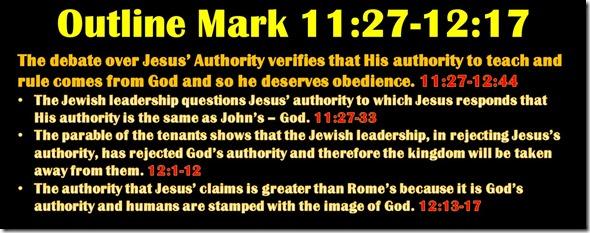Mark 11.27-12.17 outline