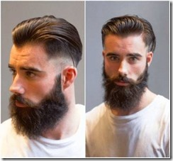 Fade beard mens haircut