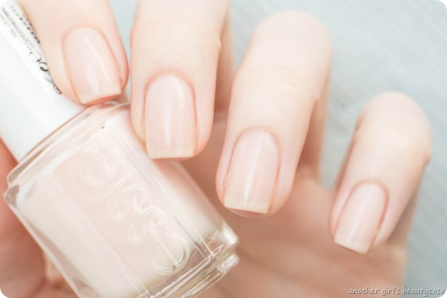 LFB Apricot Essie Spaghetti Strap Sheer Natural Short Nails French Wedding Swatch-3