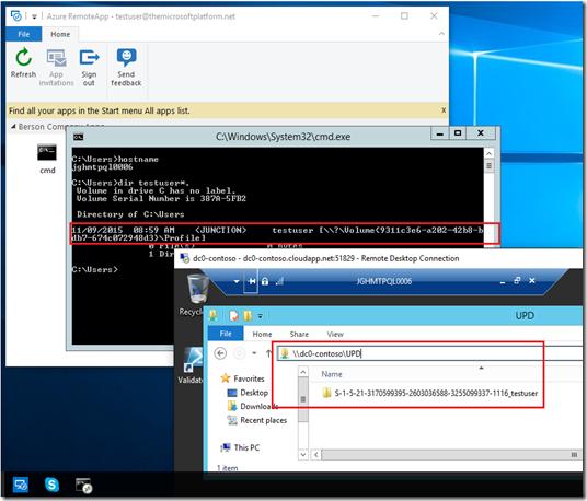 The Microsoft Platform: Azure RemoteApp without User Profile Disk (UPD)?
