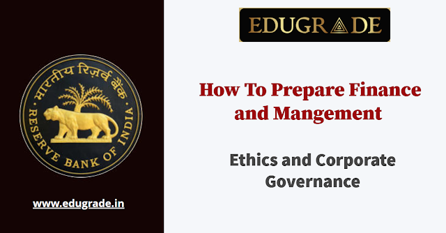 Finance and Management for RBI Grade B 2022