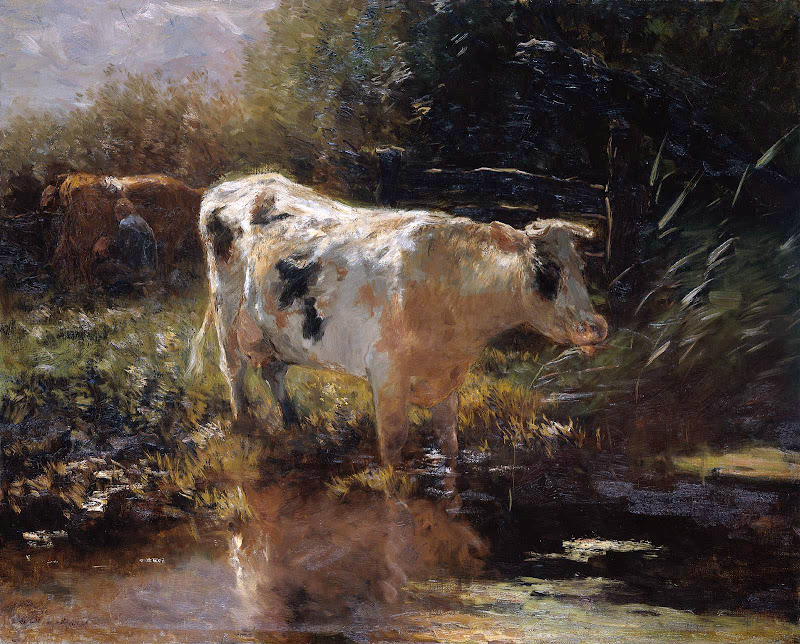 Willem Maris - Cow at the edge of the water