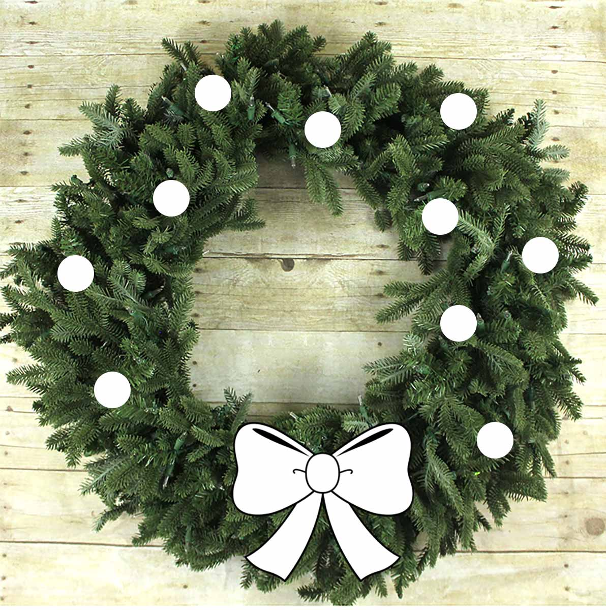 Simple Wreath Styling 0