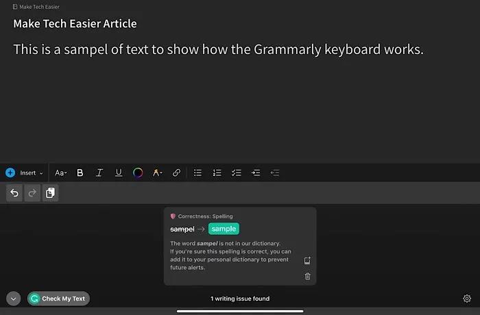 تطبيقات لوحة المفاتيح Ios Grammarly