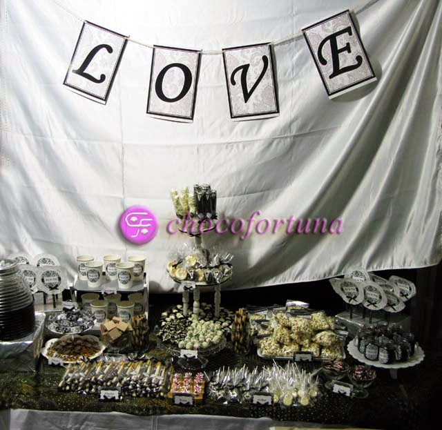 Dessert table wedding coklat