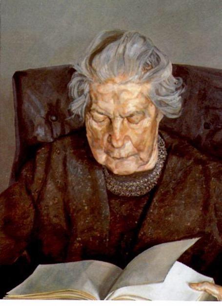 lucien freud madre leyendo