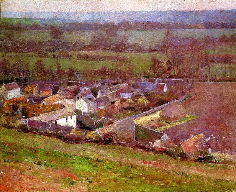 Theodore Robinson - Bird's Eye View - Giverny