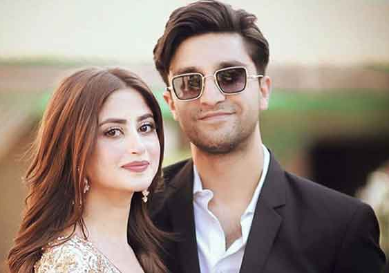Sajal Ali with her husband