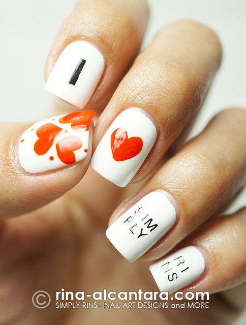 I Love Simply Rins Nail Art Design