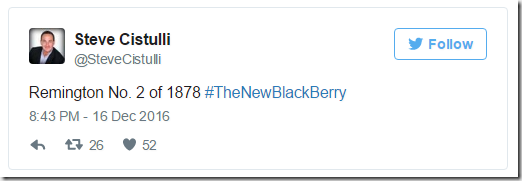 Remington No. 2 of 1878 #TheNewBlackBerry